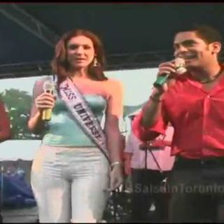 Miss Universe 2005 Showing Off Her Salsa Moves!