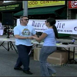 A Little Salsa Free-Styling on the Streets of Toronto!